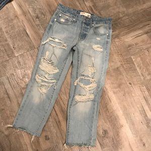 Womens Garage Boyfriend Fit Jeans